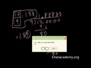 Convertir Fracciones a Decimales (Khan Academy Español)