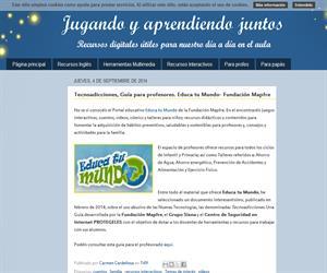 Tecnoadicciones, Guía para profesores. Educa tu Mundo- Fundación Mapfre