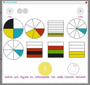 Fraccionados: juego para trabajar el concepto de fracción.