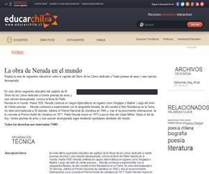 La obra de Neruda en el mundo (Educarchile)