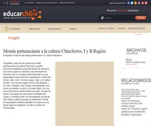 Momia pertenevciente a la cultura Chinchorro, Iy II Región (Educarchile)