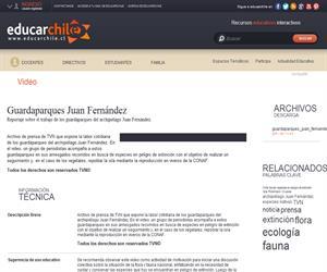 Guardaparques Juan Fernández (Educarchile)