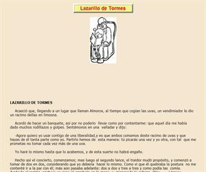 El Lazarillo de Tormes, lectura comprensiva interactiva