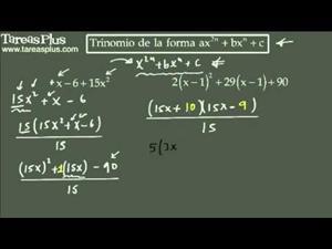 Casos de factorización tanteo para trinomios de la forma ax2n+bxn+c 2