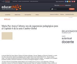 María Paz Araya Cabrera: uso pedagógico de Cazadores de Ciencias de Tvn (Educarchile)