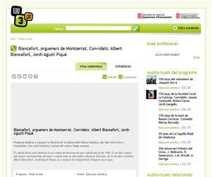 Blancafort, orgueners de Montserrat. Convidats: Albert Blancafort, Jordi-Agustí Piqué (Edu3.cat)