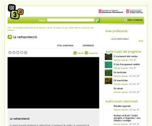 Enciclopèdia audiovisual de les Ciències i de les Tècniques (In situ). Medi ambient i protecció del planeta. La radioprotecció