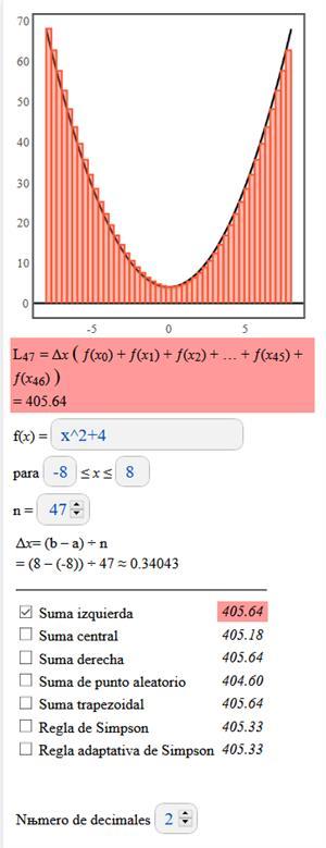 Calculadora para resolver sumas de Riemann