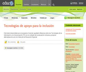 Tecnologías de apoyo para la inclusión.