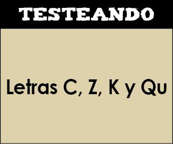Ortografía - Letras C, Z, K y Qu. 3º Primaria - Lengua (Testeando)