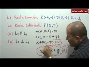 Recta paralela y perpendicular a otra recta (JulioProfe)
