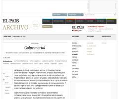 'Golpe mortal' (Editorial de 'El País' sobre la 'Ley Sinde')