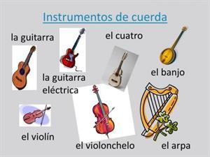 Nombres de los instrumentos de cuerda