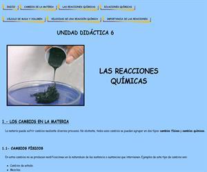 Las reacciones químicas (unidad didáctica)