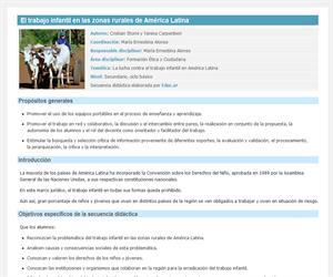 El trabajo infantil en las zonas rurales de América Latina