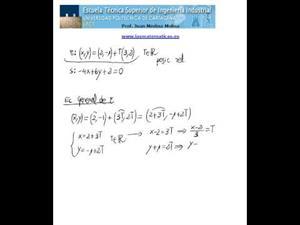 Posición relativa de dos rectas