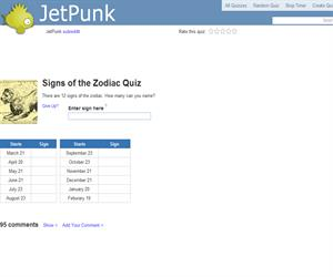 Signs of the Zodiac Quiz