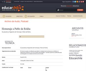 Homenaje a Pablo de Rokha (Educarchile)