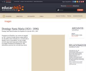 Domingo Santa María (1824 - 1896) (Educarchile)