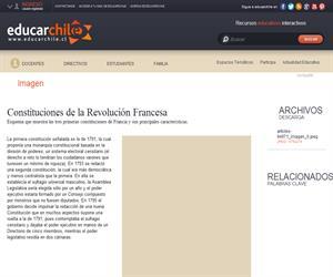 Constituciones de la Revolución Francesa (Educarchile)
