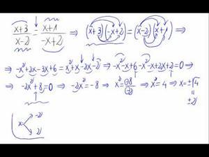 Ecuación de segundo grado - Igualdad de fracciones