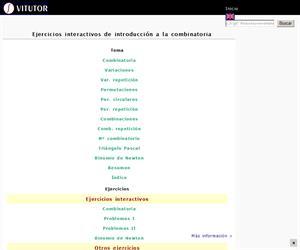 Ejercicios interactivos de introducción a la combinatoria (Vitutor)