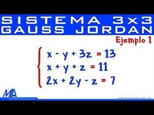 Solución de sistemas de 3x3 método de Gauss Jordan | Ejemplo 1