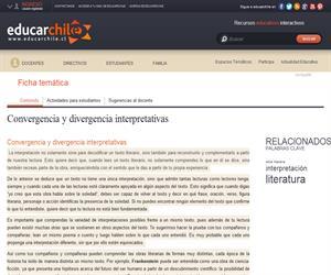 Convergencia y divergencia interpretativas (Educarchile)