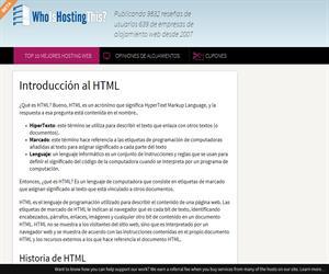 Introducción al HTML (WhoIsHostingThis.com)