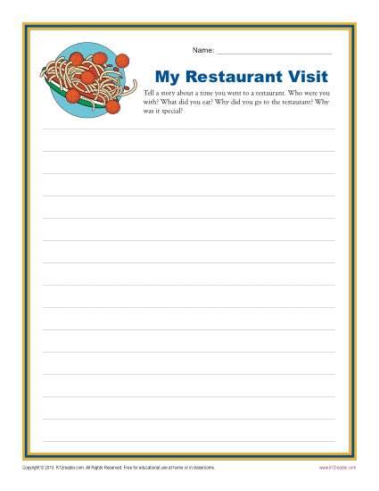 My Restaurant Visit