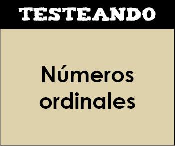 Números ordinales. 1º Primaria - Matemáticas (Testeando)