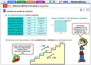 Superficie. Matemáticas para 1º de Secundaria