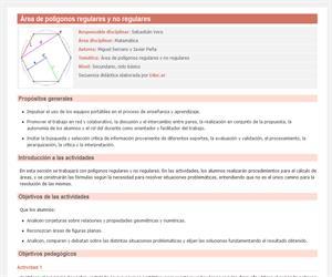 Área de polígonos regulares y no regulares