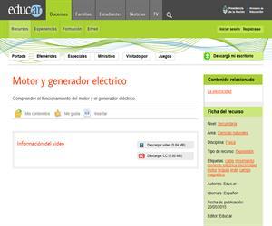 Motor y generador eléctrico