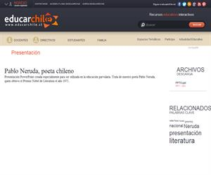 Pablo Neruda, poeta chileno (Educarchile)
