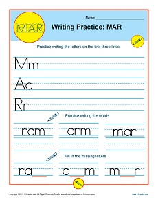 Writing Practice: MAR