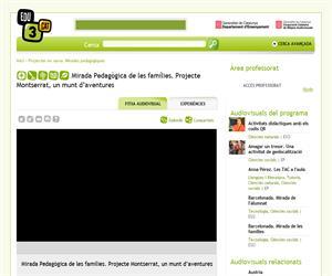 Mirada Pedagògica de les famílies. Projecte Montserrat, un munt d'aventures (Edu3.cat)