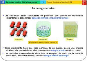 La energía térmica, calor y temperatura (SM)