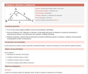 Triángulos elementos y clasificación