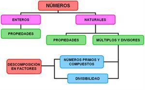 números naturales y números enteros.