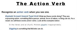 The action verb (chompchomp.com)
