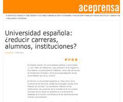 Universidad española: ¿reducir carreras, alumnos, instituciones? | Aceprensa