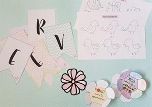Primavera: decoración para el aula