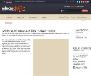 Arcoiris en los canales de Chiloé (Alfredo Helsby) (Educarchile)