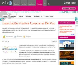 Capacitación y Festival Conectar en Del Viso