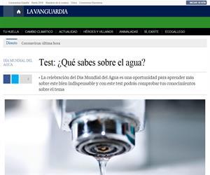 Test: ¿Qué sabes sobre el agua? (La Vanguardia)
