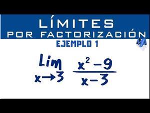 Solución de límites por factorización | Ejemplo 1