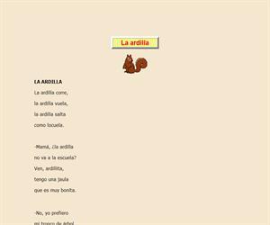 La ardilla, lectura comprensiva interactiva