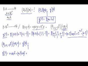 Derivada direccional derivando una función de una variable