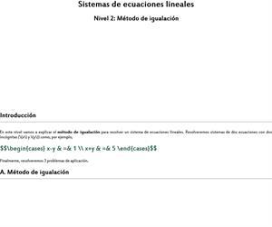Método de igualación (sistemas de ecuaciones)